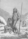 BRAZIL: Mayorunas Indians, from the Upper Amazon,  antique print 1890